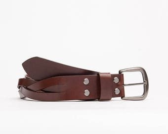 Handcrafted leather belt // Chocolate Jack
