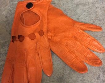 Vintage leather driving gloves