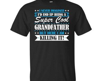 Grandfather, Grandfather Gifts, Grandfather Shirt, Super Cool Grandfather, Gifts For Grandfather, Grandfather Tshirt