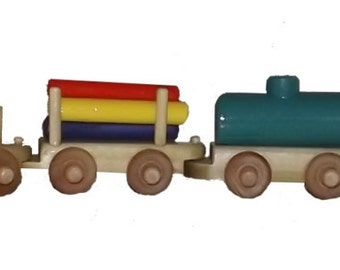 Toy Wooden Train Made from Poplar