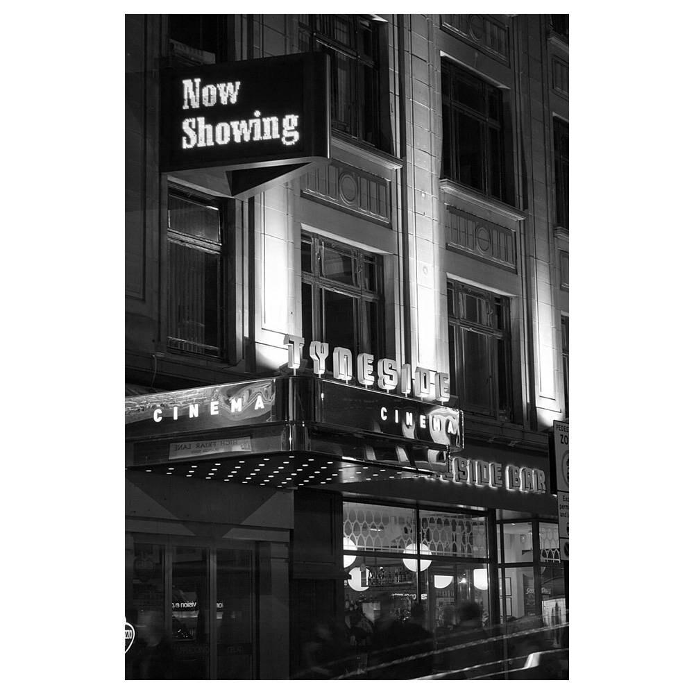Noir Retro Newcastle Black And White Photography Wall Art Film Movie A