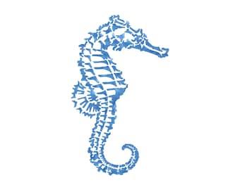 Sea Horse Stencil