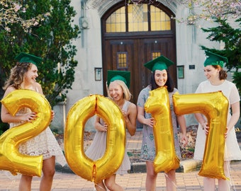 Class of 2017 Balloons / Graduation Party Decorations / 2017 High School Grad Party Decor / College Graduation Party