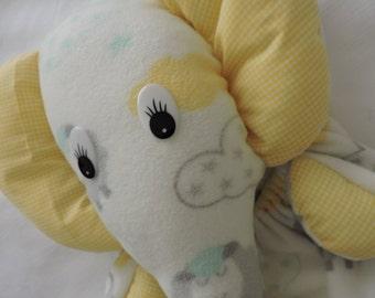 handmade elephant pyjama bag