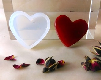 35mm Heart valentine silicone pendant mold ; V day gift jewellery earrings ornaments pendant charm3