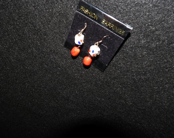 Red, white, blue Pierced earrings