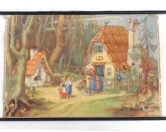 Pull down chart, Hansel and Gretel, School chart . Grimm's fairytailes fairy tales. Hansel und Gretel wall chart. Child room #64BG163FK1E