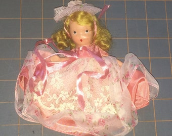 "Nancy Ann Storybook Doll - Bisque Doll - Pretty Maid - Story Book Doll - 5"" Doll - Vintage Doll - 1940s Doll - Original Outfit - 69-16"