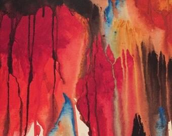 Original abstract art - ready to hang