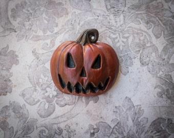 Hand sculpted Pumpkin pin
