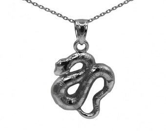 10k Black Gold Snake Necklace