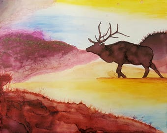 Elk Sharpie and rubbing alcohol