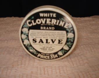 cloverine salve tin  35 cent era