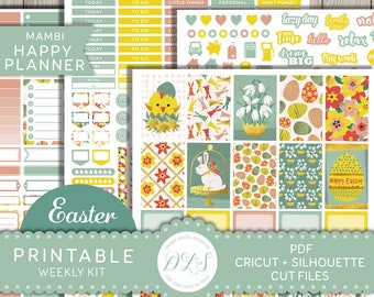 Easter Stickers Happy Planner, Easter Planner Kit, Happy Planner April, Easter Weekly Kit, Mambi Planner Stickers, Happy Planner PDF, HP121