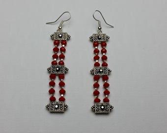 Red Link Earrings