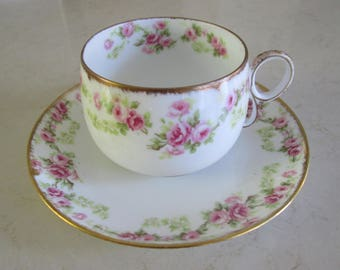 RESERVED Vintage Limoges Tea Cup and Saucer