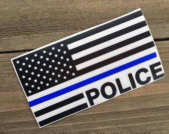 Police Decal, Thin Blue Line, Yeti Decal, Tumbler Decal, Specialized Unit Decal, National Police Week, Law Enforcement Appreciation