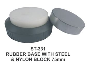 PARUU® Steel  and Nylon block with rubber base st 331