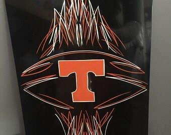 Hand Pinstriped University of Tennessee Panel
