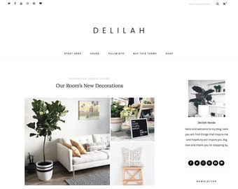 wordpress blog theme - responsive wordpress blog design - wordpress template - wordpress theme feminine - wordpress theme modern - DELILAH