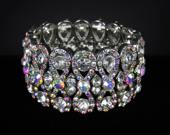 Katrina AB Crystal Competition Stretch Bracelet for NPC Bikini Fitness Bodybuilding Contests
