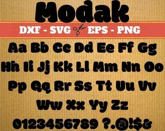 Modak svg font alphabet Svg Font; Svg, Dxf, Eps, Png; Digital Monogram, Calligraphy Script, Cursive Svg Font, Silhouette, Cricut, Cut File