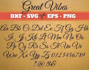 Vine Monogram Font svg Great Vibes; Svg, Dxf, Eps, Png; Vine svg, Calligraphy Script, Svg vine font, font svg, Cricut, Vine monogram svg