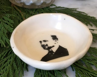 "Small ""High Collared, Balding, Mustachioed Man"" Bowl"