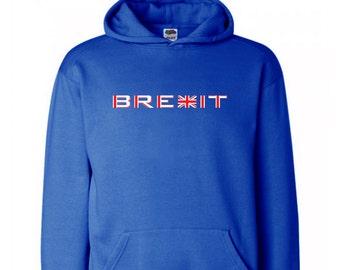 Brexit  Leave EU Referendum  Christmas Present Gift  Royal Blue Hoodie