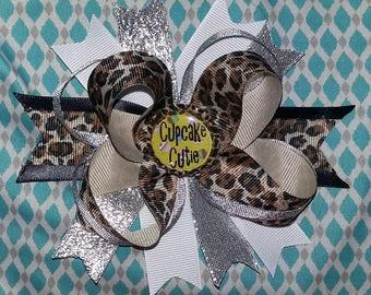 4in Cheetah Cupcake Cutie Hairbow