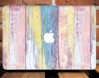 Colorful Wooden Print Wood Case MacBook Case MacBook Air 11 Inch Case MacBook Pro 13 Hard Case Laptop Case MacBook Pro 15 Case WCm215