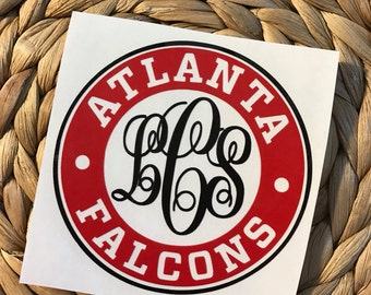 atlanta falcon decal etsy. Black Bedroom Furniture Sets. Home Design Ideas