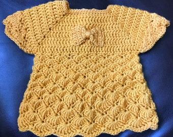Little Bow Scalloped Shirt (6-9months)