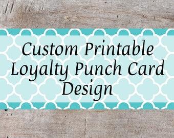 Custom Punch Card, Customer Loyalty Punch Card, Business Punch Card, Behavior Punch Card, Punch Card, Loyalty Cards, Card Punch