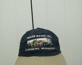 Rare Vintage Ward Rugh Inc Ellensburg Washington Embroidered Cap Hat Free size fit all