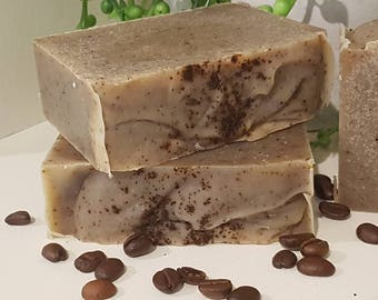 SALE!! Goat Milk Coffee Scrub, handmade soap, australian soap, cocoa butter soap, shae scentials