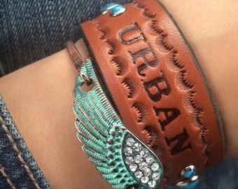 Custom leather bracelet