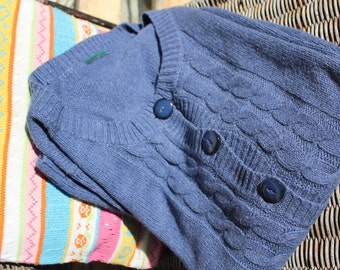 Megasale:CashmireCardigan(L), blue, large