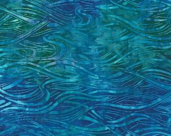 Robert Kaufman - Totally Tropical 3 - Pacific - Water -  Batik AMD-14929-60 - Blue - Fabric by Yard