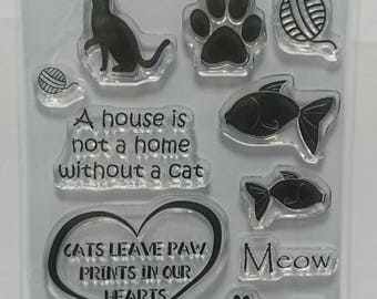 Cat Paw Prints - A6 Stamp set by Imagine Design Create