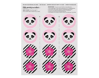 Panda Party Decorations, Panda Birthday Decorations, Panda Party, Panda Party Decor, Panda Birthday Party, Panda Cupcake Toppers, Printable