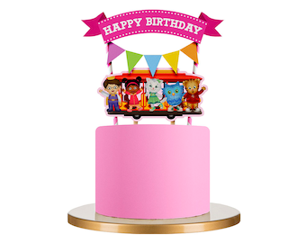 Daniel Tiger cupcake toppers, Daniel Tiger cake topper, Daniel Tiger party, O the Owl toppers, Prince Wednesday, Katerina Kittycat, Daniel
