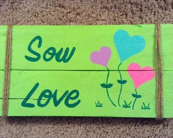 Handpainted Fully Customizable Wooden Garden Sign