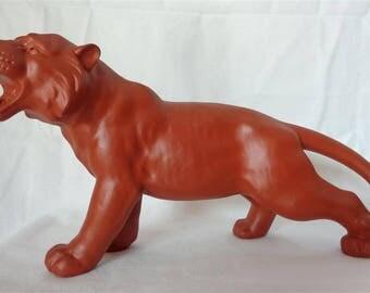 E0055 : Japanese Tokoname pottery Tiger figure