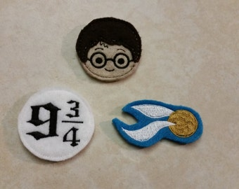 Harry Potter Magnets - Harry Potter Refrigerator Magnets - Golden Snitch, 9 3/4 Train Platform, Harry Potter Felt Magnets - Kitchen Magnets