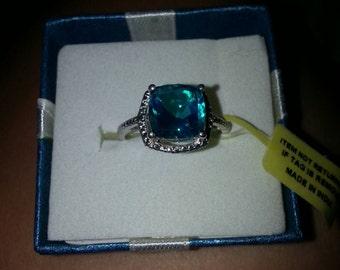 London Blue Topaz Diamond Accents Ring