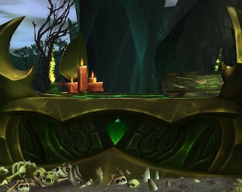 Fel chest with LEDs World of Warcraft Legion