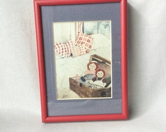Raggedy Ann and Andy Illustration // Raggedy Ann and Andy // Vintage Wall Art // Vintage Raggedy Ann and Andy (B9)