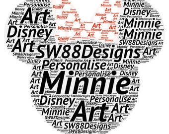 Minnie Mouse Personalised Art