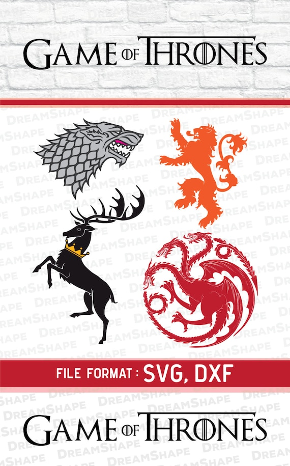 svg cut file game of thrones sigil game of thrones svg files